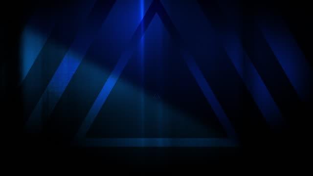 vidéos et rushes de 4k seamless pattern de haut contrasté bizarre et grungy triangles bleus sans fin tunnel vidéo de fond - party social event
