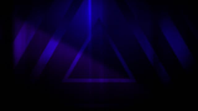 vidéos et rushes de 4k seamless pattern de haut contrasté bizarre et grungy triangles bleus foncés sans fin tunnel vidéo de fond - party social event