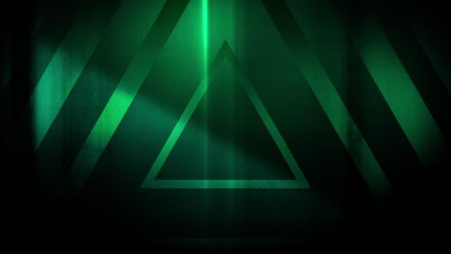 vidéos et rushes de 4k seamless pattern de haute contraste bizarre et grungy vert lime triangles endless tunnel fond vidéo - party social event
