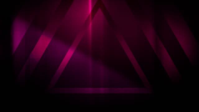 vidéos et rushes de 4k seamless pattern de haute contraste bizarre et grungy triangles rouges sans fin tunnel vidéo de fond - party social event