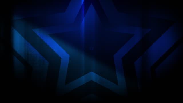 vidéos et rushes de 4k seamless pattern de haute contraste bizarre et grungy, clairsemée étoile bleue forme sans fin tunnel vidéo de fond - party social event