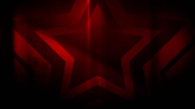 vidéos et rushes de 4k seamless pattern de haute contraste bizarre et grungy, éparse forme étoile rouge sans fin tunnel de fond vidéo - party social event