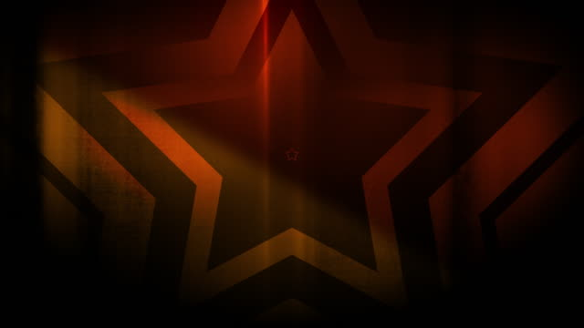 vidéos et rushes de 4k seamless pattern de haute contraste bizarre et grungy, forme étoile orange clairsemée vidéo de fond de tunnel sans fin - party social event