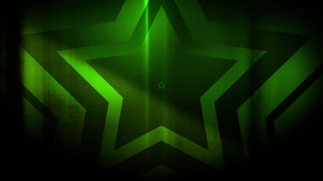vidéos et rushes de 4k seamless pattern de haute contrastée bizarre et grungy, clairsemée vert étoile forme sans fin tunnel vidéo de fond - party social event