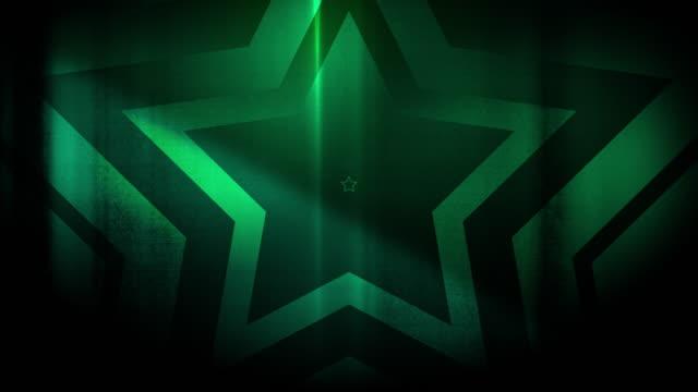 vidéos et rushes de 4k seamless pattern de haute contraste bizarre et grungy, forêt clairsemée vert étoile forme sans fin tunnel vidéo de fond - party social event