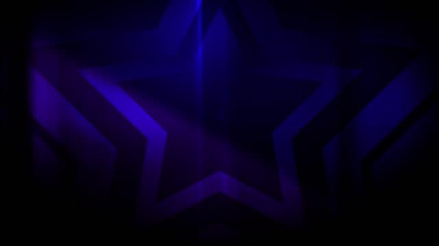 vidéos et rushes de 4k seamless pattern de haute contrastée bizarre et grungy, clairsemée étoile pourpre forme sans fin tunnel vidéo de fond - party social event