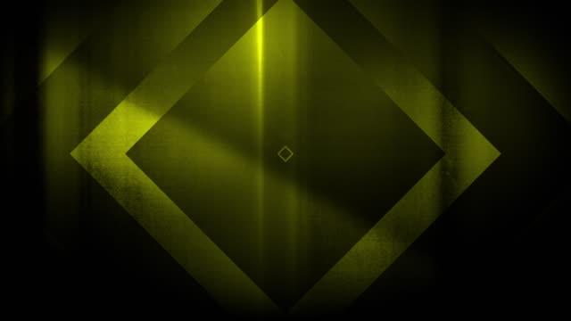 vidéos et rushes de 4k seamless, motif clairsemé de haute contraste bizarre et grungy, forme de rectangle vert lime en expansion vers la caméra sans fin tunnel vidéo de fond - party social event