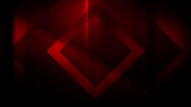 vidéos et rushes de 4k seamless, motif clairsemé de haute contraste bizarre et grungy, forme rectangle rouge en expansion vers la caméra sans fin tunnel vidéo de fond - party social event