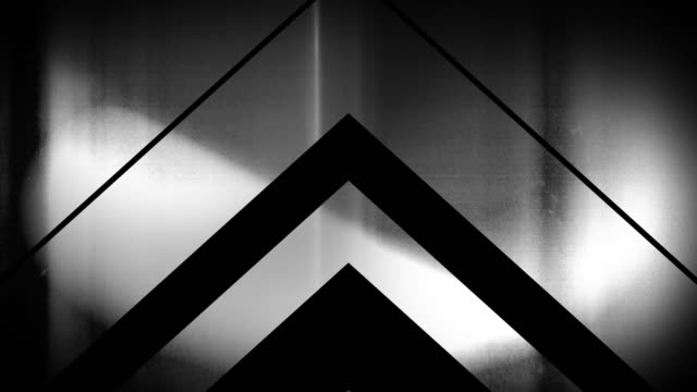 4k seamless, sparse pattern of high contrasted bizarre and grungy, sparse black and white arrow shape pointing up endless tunnel background video - music video stock videos & royalty-free footage
