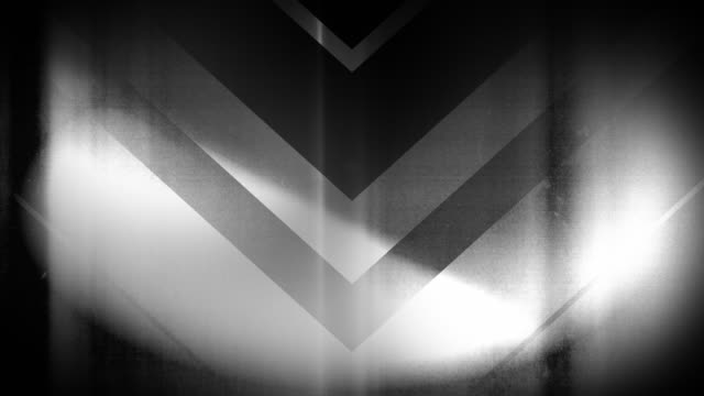 4k seamless, sparse pattern of high contrasted bizarre and grungy, sparse black and white arrow shape pointing down endless tunnel background video - music style stock videos and b-roll footage