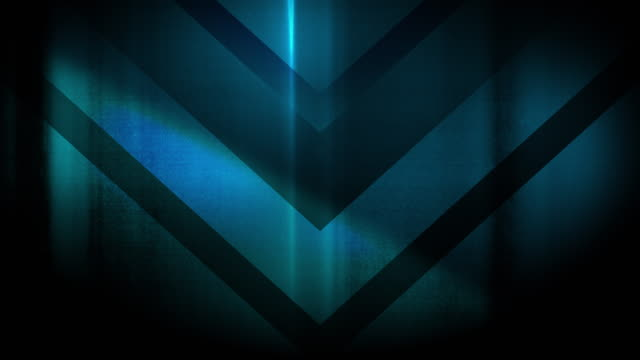 4k seamless, sparse pattern of high contrasted bizarre and grungy, sparse light blue arrow shape pointing down endless tunnel background video - music style stock videos and b-roll footage