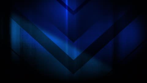 stockvideo's en b-roll-footage met 4k naadloze, sparse patroon van hoge contrasterende bizarre en grungy, sparse blauwe pijl vorm naar beneden te wijzen eindeloze tunnel achtergrond video - arrow symbol