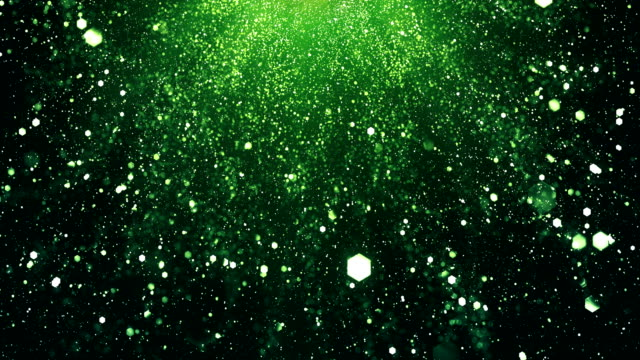 4k Shiny Particle Background (Green, Vertical) - Loop