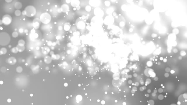 4k Silver Abstract of Bright and sparkling bokeh background