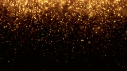 4k Small Gold Particles Vertical Movement - Background Animation - Loopable