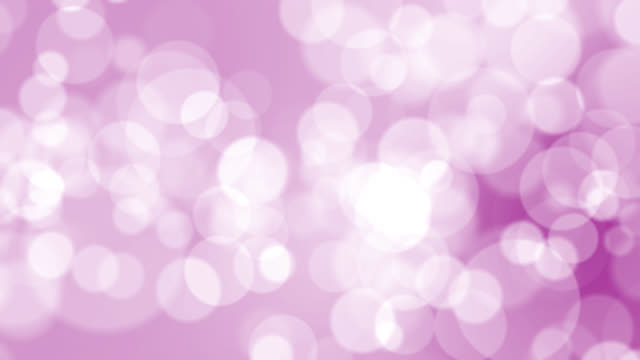 vídeos de stock e filmes b-roll de 4k soft bokeh light on pink background - pink colour