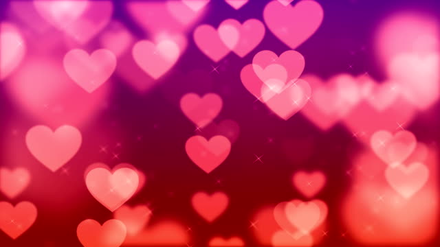 4k soft red heart background (loopable) stockvideo - fame stock-videos und b-roll-filmmaterial