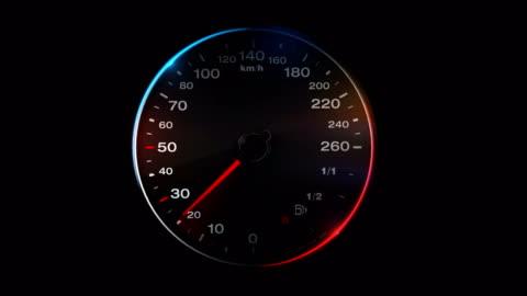 vidéos et rushes de 4 animation de compteur de vitesse k - compteur