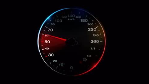 vidéos et rushes de 4 animation de compteur de vitesse k avec canal alpha - compteur