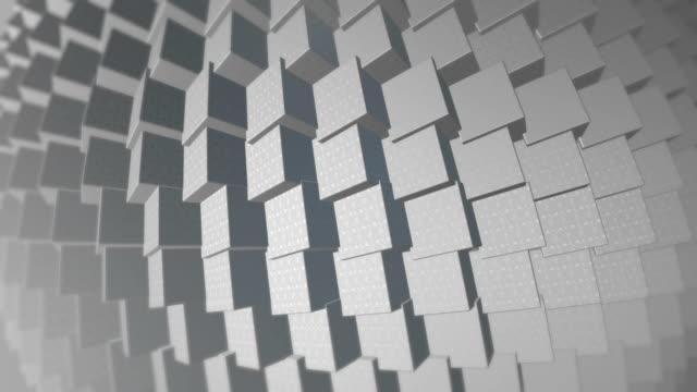 4 k Spinning abstrakt 3D forma bakgrund (Loopable) - Stock videoteknik, begrepp & ämnen, Internet
