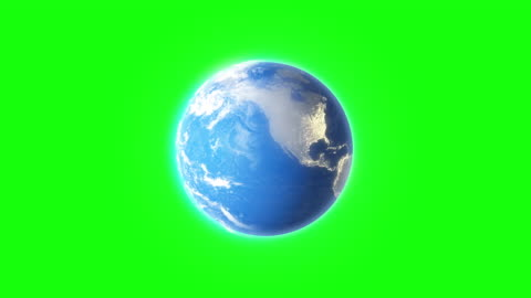 4k spinning earth on green screen background animation seamless loop - spinning stock videos & royalty-free footage