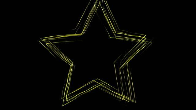 stockvideo's en b-roll-footage met 4k star shape (loop 4k + alpha) stock video - star shape