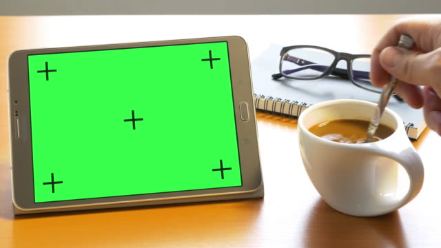 4k: tablet with green screen - book cover stock videos & royalty-free footage