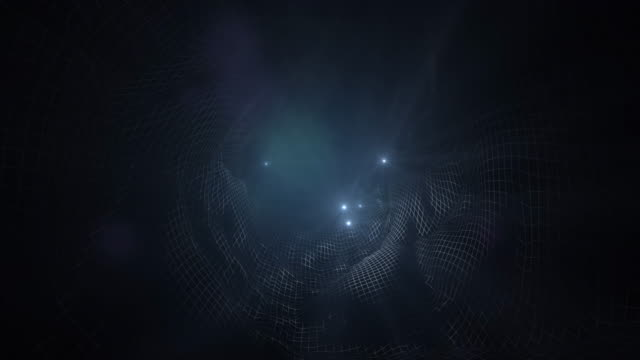 4k technology abstract animation background tunnel lights - plexus stock videos & royalty-free footage