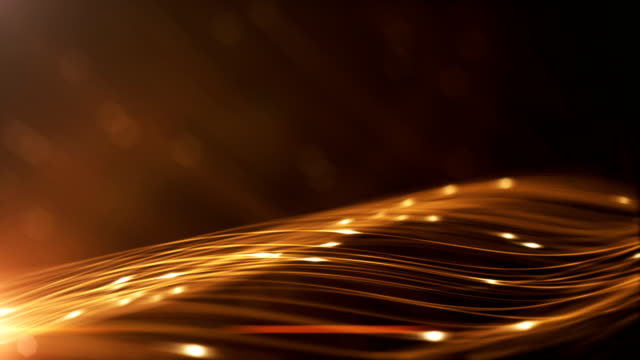 4k technology background with copy space (gold / orange / yellow) - loop - orange colour stock videos & royalty-free footage