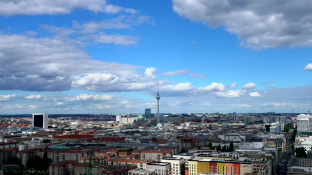 4k TIME LAPSE : Aerial View Berlin cityscape
