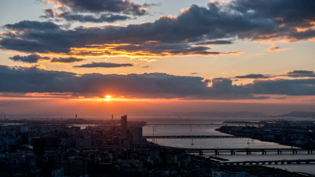 4k time lapse : aerial view of osaka - osaka stock videos and b-roll footage