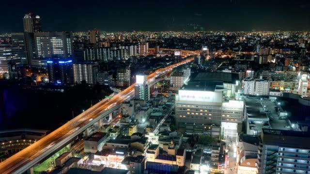 4 k time-lapse: Aerial View van Osaka