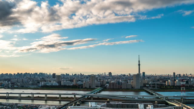 4k time lapse : beautiful cityscape with tokyo sky tree in japan - passion stock videos & royalty-free footage