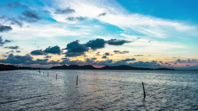 4k time lapse day to night - songkhla province stock videos and b-roll footage