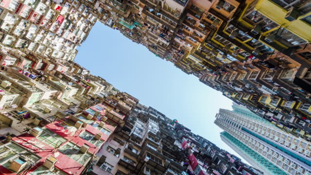 4k time lapse of apartment building at Quarry Bay Street in Hongkong