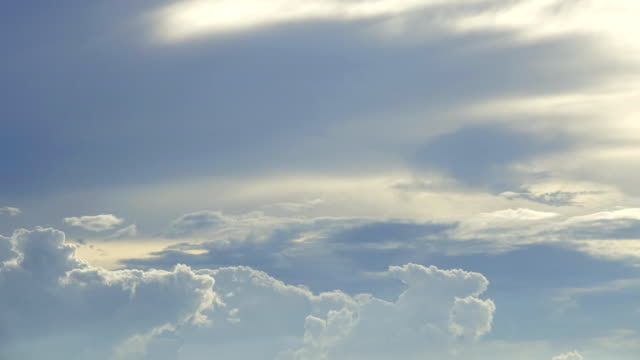 4k: Time Lapse of Cumulus Clouds