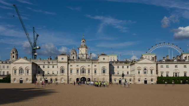 4k time lapse of horse guards square in westminster london - royalty stock videos & royalty-free footage