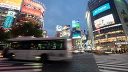 4k : Time lapse of Tokyo Shibuya station