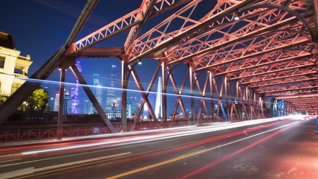 4k Time Lapse - Shanghai city night traffic