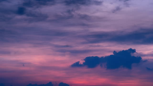 4k Time lapse Sunset sky and cloud