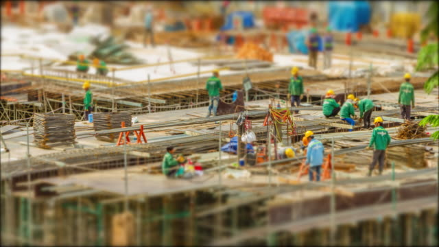 4k time lapse  (4096x2160) :the construction site (apple prores 422 (hq) format). - scaffolding stock videos & royalty-free footage