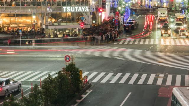 4 k Zeitraffer. Tokyo. Bahnhof Shibuya
