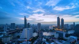 4k, Time Lapse View of Bangkok city Thailand