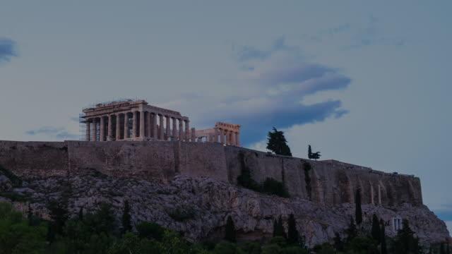 4k timelapes : acropolis, athens - parthenon athens stock videos and b-roll footage