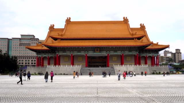 4k timelapes : chiang kai shek (cks) memorial hall in taipei city - taipei stock videos & royalty-free footage