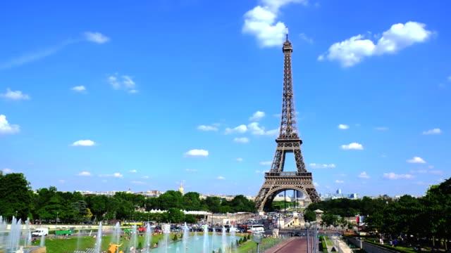 4k Timelapes: Eiffelturm in Paris, Frankreich