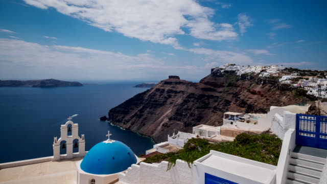 4k Timelapes : Village of Fira in Santorini Island, Greece