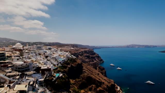 4k Timelapes : Village of Fira in Santorini Island, Greece