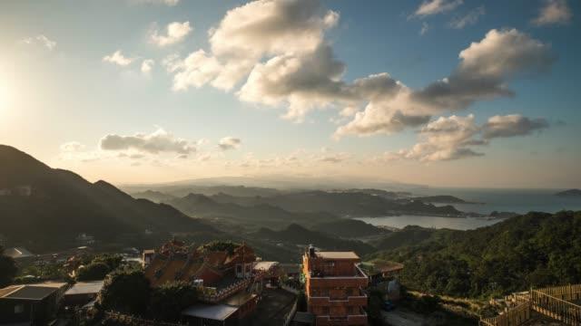 4k Timelaps : view of Jiufen old city, Jiufen, Taiwan