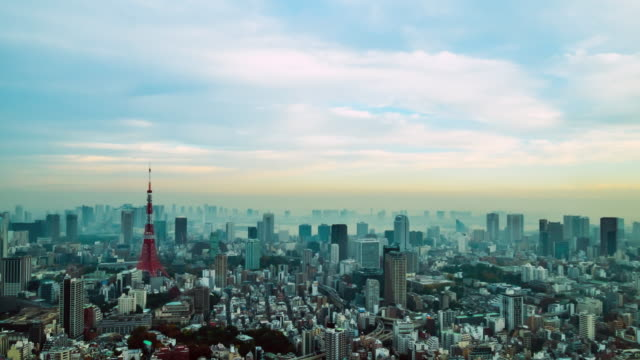 stockvideo's en b-roll-footage met 4k time-lapse: luchtfoto tokyo tower, japan - japanse cultuur